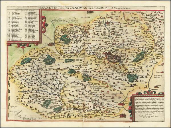22-France and Centre et Pays de la Loire Map By Gerard de Jode