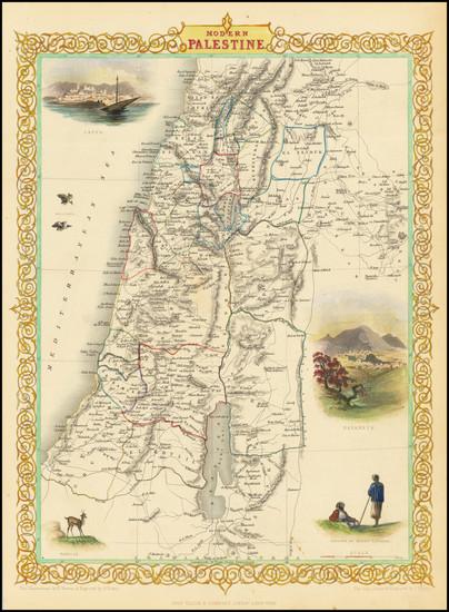 13-Holy Land Map By John Tallis
