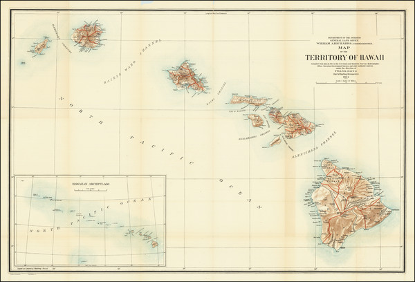 7-Hawaii and Hawaii Map By U.S. General Land Office
