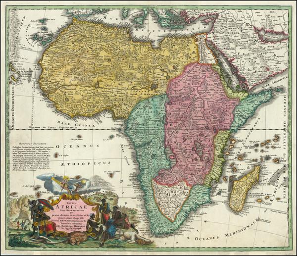 77-Africa Map By Johann Baptist Homann