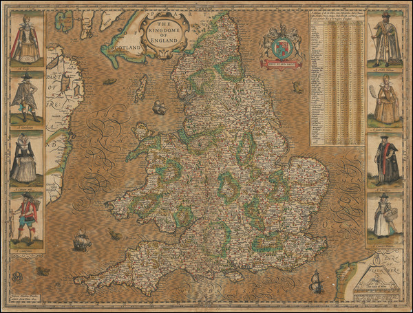 42-England Map By John Speed