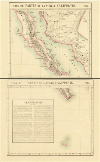 8-Mexico and Baja California Map By Philippe Marie Vandermaelen