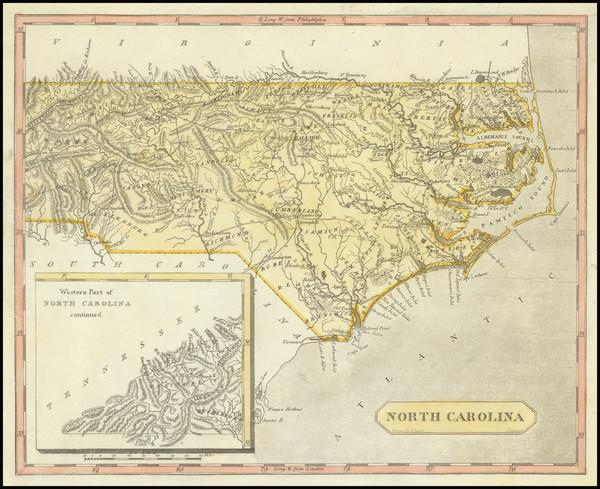 81-North Carolina Map By Aaron Arrowsmith  &  Lewis