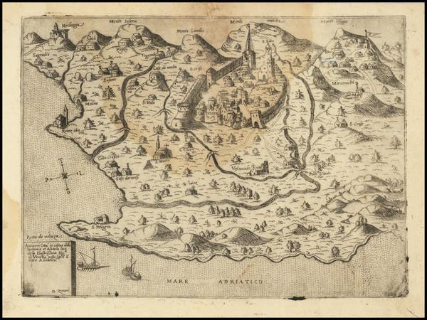 33-Serbia & Montenegro Map By Domenico Zenoi / Ferrando Bertelli