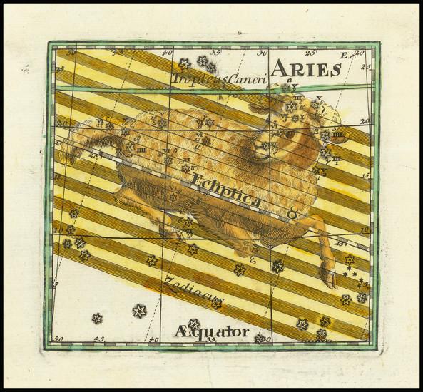 89-Celestial Maps Map By Corbinianus Thomas