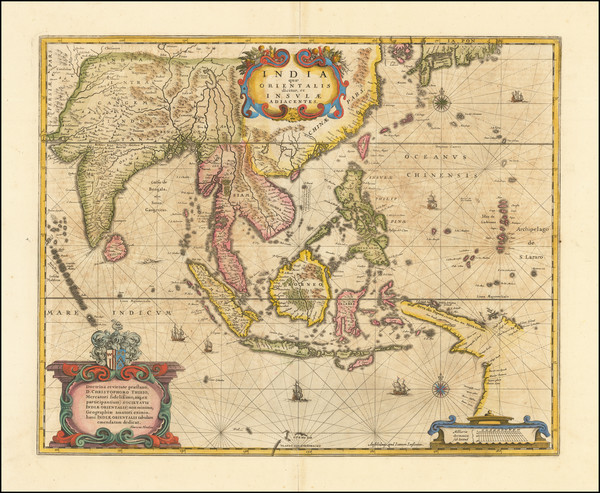 27-India, Southeast Asia, Philippines, Indonesia, Thailand, Cambodia, Vietnam and Australia Map By