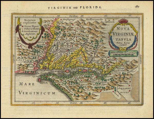 53-Delaware, Southeast and Virginia Map By Jan Jansson / Pieter van den Keere
