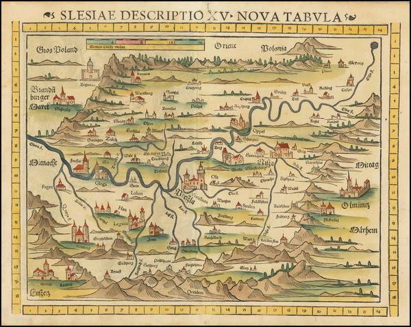 19-Poland Map By Sebastian Munster