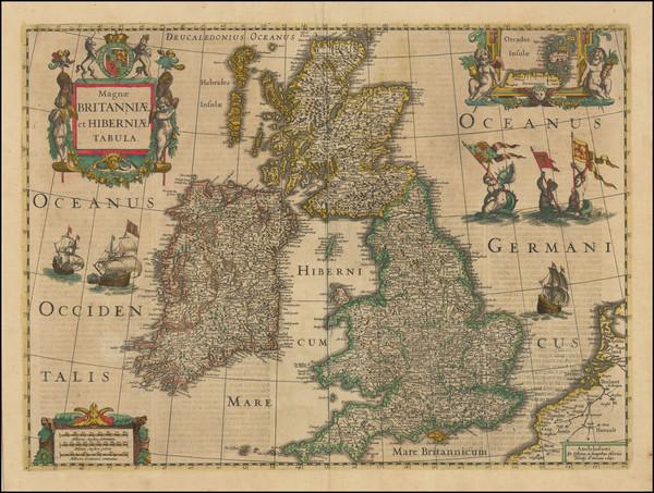 47-British Isles Map By Henricus Hondius