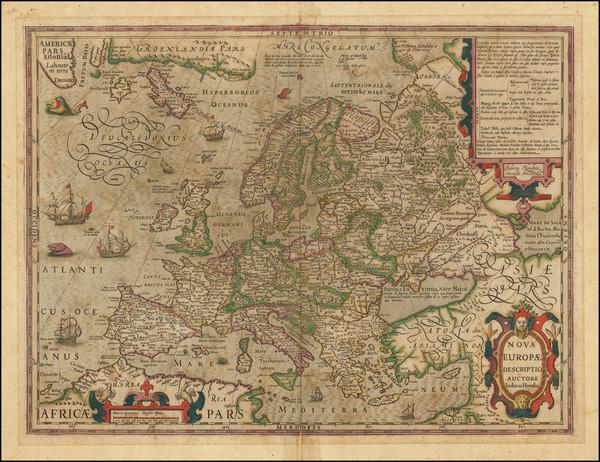 75-Europe Map By Jodocus Hondius