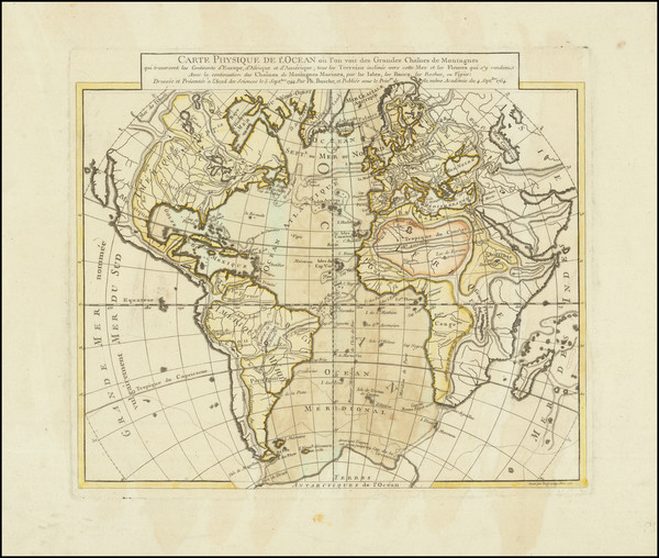 38-World and Geological Map By Philippe Buache