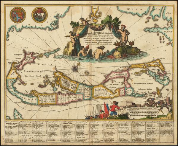 85-Bermuda Map By John Ogilby