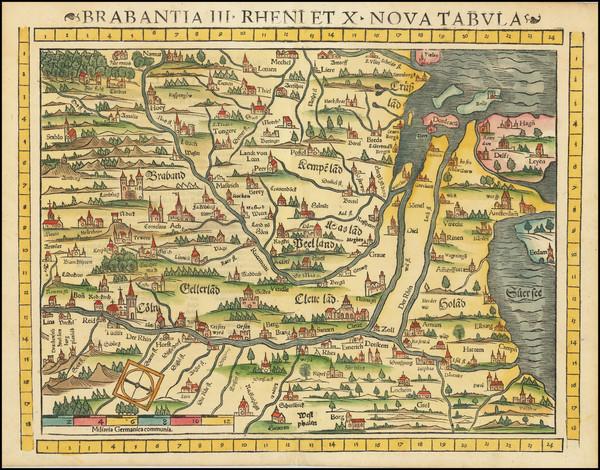 12-Netherlands, Norddeutschland and Mitteldeutschland Map By Sebastian Munster