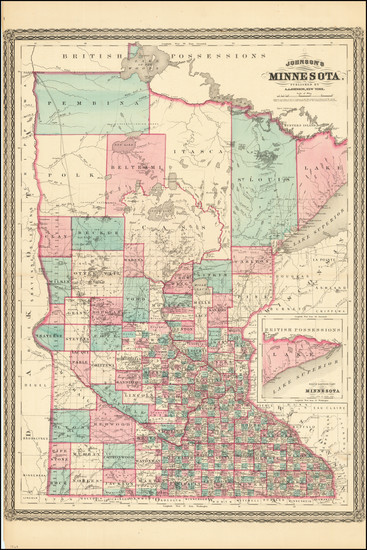 67-Midwest Map By Alvin Jewett Johnson