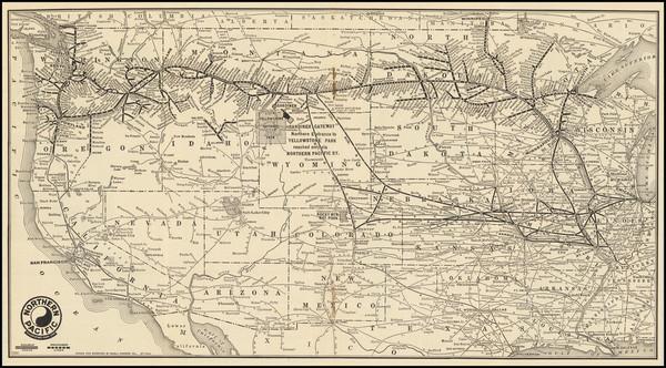 75-United States, North Dakota, South Dakota, Idaho, Montana, Wyoming, Oregon and Washington Map B