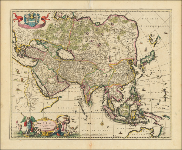 100-Asia Map By Nicolaes Visscher I