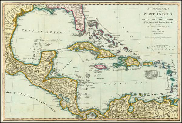 50-Florida and Caribbean Map By Samuel Dunn