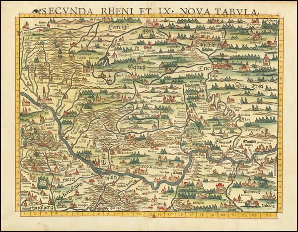 100-France, Nord et Nord-Est and Mitteldeutschland Map By Sebastian Munster