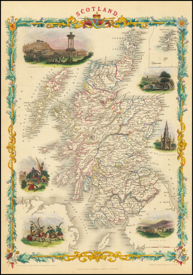 11-Scotland Map By John Tallis