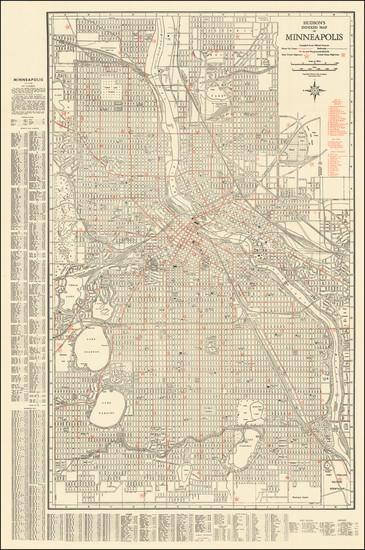 47-Minnesota Map By Hudson Map Company