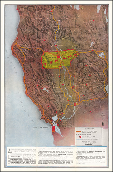 66-California Map By Tehama County Exposition Commission / Board of Supervisors Tehama County