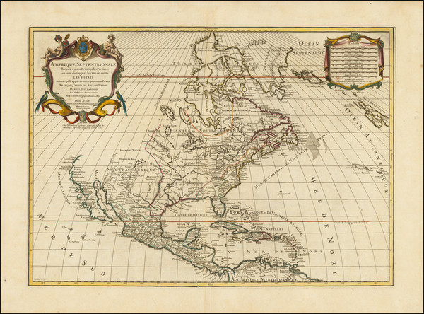 62-North America Map By Louis Charles Desnos