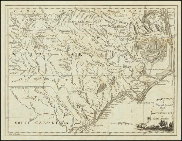76-Southeast and North Carolina Map By Universal Magazine