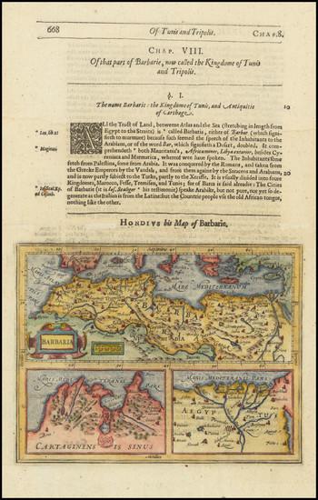 75-North Africa Map By Jodocus Hondius / Samuel Purchas