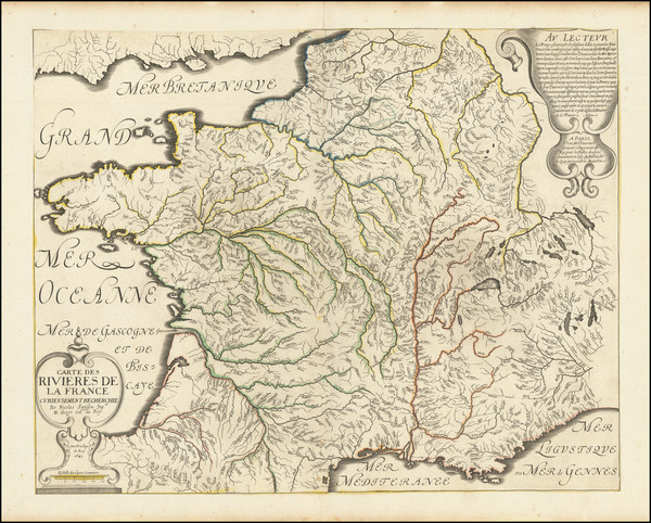 55-France and Curiosities Map By Nicolas Sanson