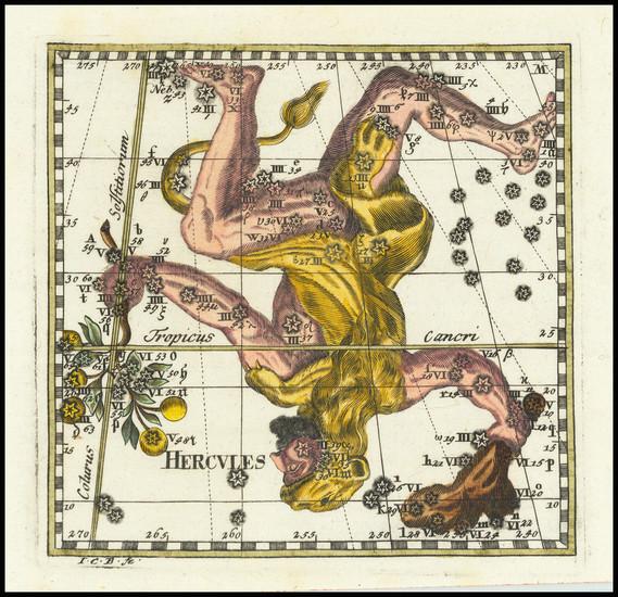 17-Celestial Maps Map By Corbinianus Thomas