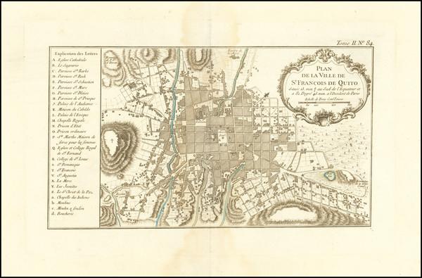 92-Peru & Ecuador Map By Jacques Nicolas Bellin