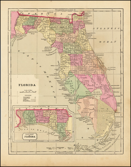 68-Florida Map By Sidney Morse