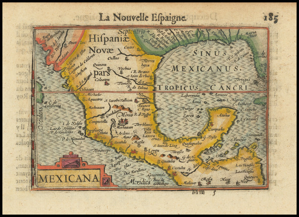 83-Mexico and Central America Map By Barent Langenes