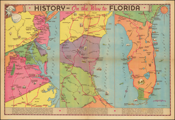 20-Mid-Atlantic, Florida and Pictorial Maps Map By Edwin L. Sundberg
