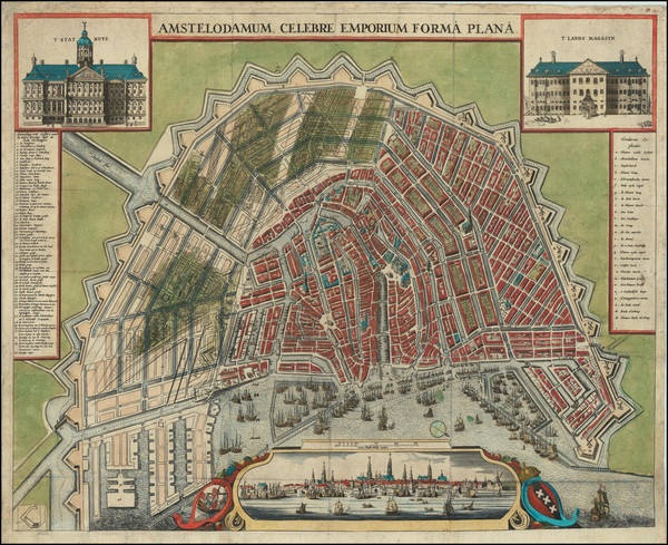 3-Amsterdam Map By Anonymous / Claes Janszoon Visscher