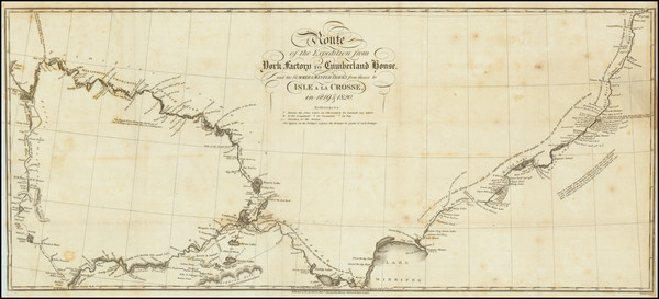 30-Polar Maps and Western Canada Map By Sir John Franklin