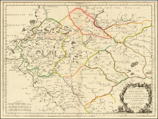 74-Poland Map By Nicolas Sanson