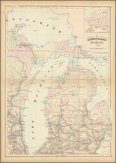 75-Michigan Map By Asher  &  Adams