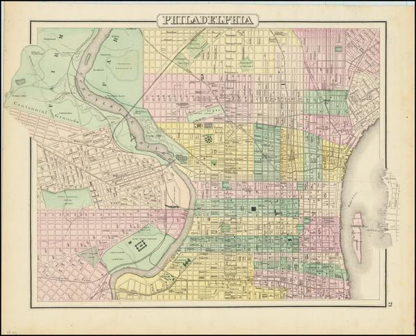 79-Philadelphia Map By O.W. Gray