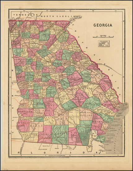 82-Georgia Map By Sidney Morse