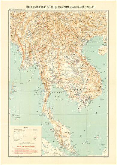27-Southeast Asia, Singapore and Malaysia Map By R. Hausermann