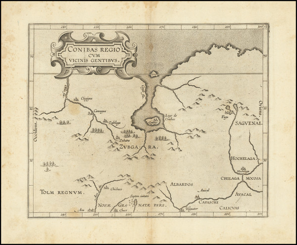 9-Midwest, Plains, Rocky Mountains and Canada Map By Cornelis van Wytfliet
