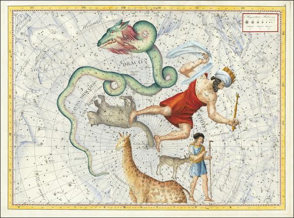 76-Celestial Maps Map By Johann Elert Bode