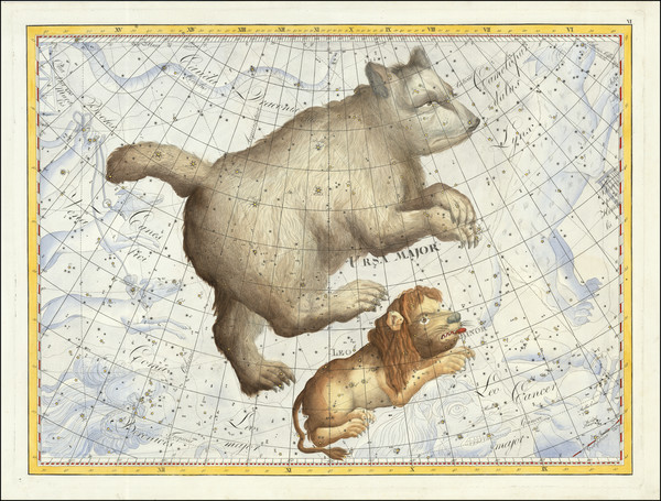 67-Celestial Maps Map By Johann Elert Bode
