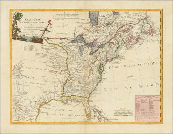 75-United States and American Revolution Map By Charles Francois Delamarche