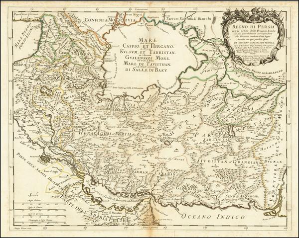 57-Middle East and Persia & Iraq Map By Giacomo Giovanni Rossi - Giacomo Cantelli da Vignola