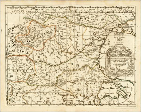 70-Ukraine, Romania and Balkans Map By Giacomo Giovanni Rossi