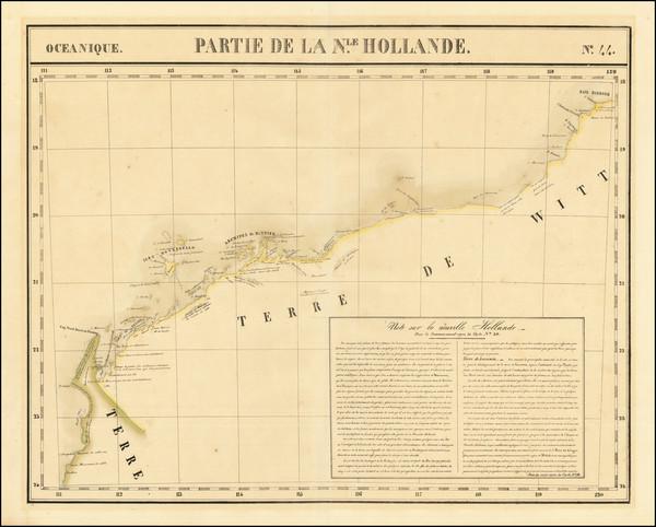 59-Australia Map By Philippe Marie Vandermaelen