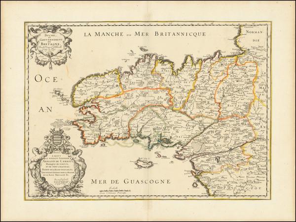 15-Bretagne Map By Nicolas Sanson