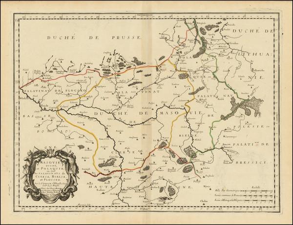 30-Poland Map By Nicolas Sanson